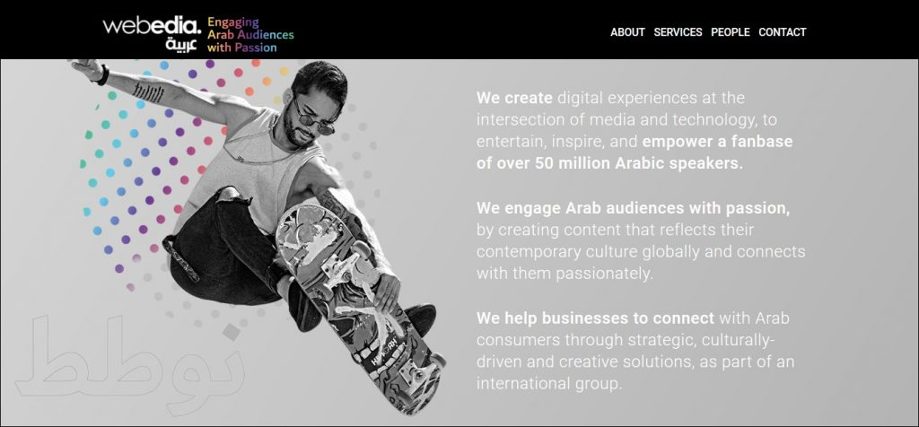 content marketing agencies in the middle east #5: Webedia Arabia