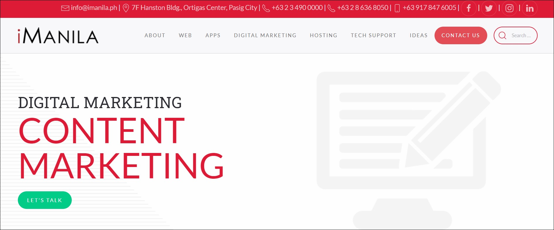 iManila: content marketing agencies in South East Asia